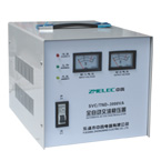 SVC(TND) series single-phase high precision full-auto AC voltage regulator adopts linear integrated circuit form servo motor control system, drive the contact voltage regulator to regulate automatically by controlling the servo motor, it has excellent features,such as small wavefrom.distrotion,high power factor.free from the effector frequency variation of supply,it is used most situations where the electricity voltage fluctuation requirement